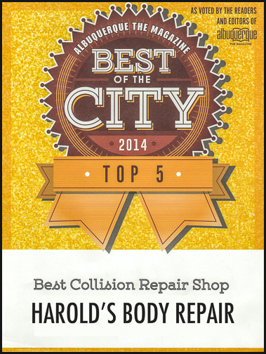 Awards: Best Body Repair Shop by Albuquerque Voters